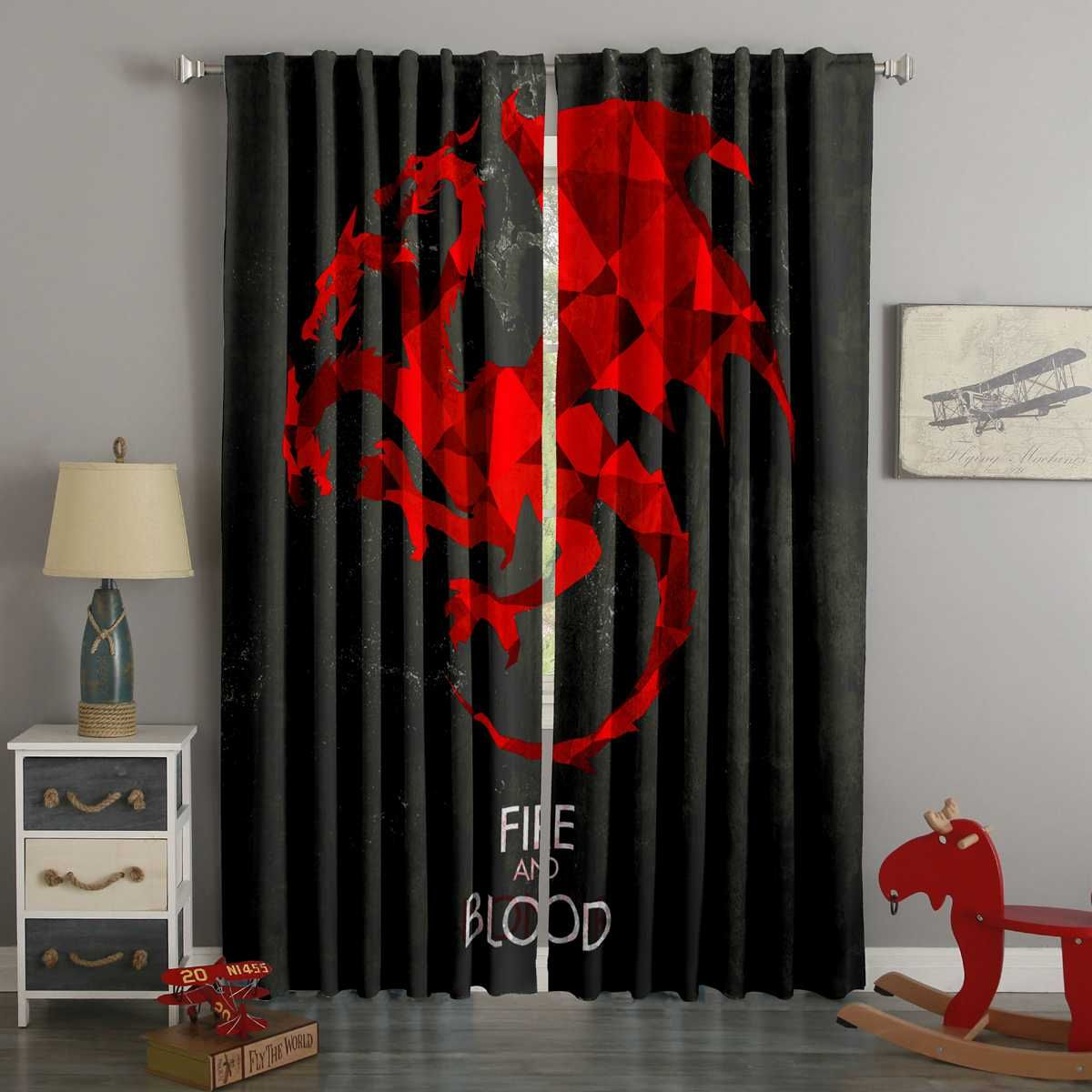 3d Printed Game Of Thrones Style Custom Living Room Curtains Curtains Living Room Curtains Custom Curtains