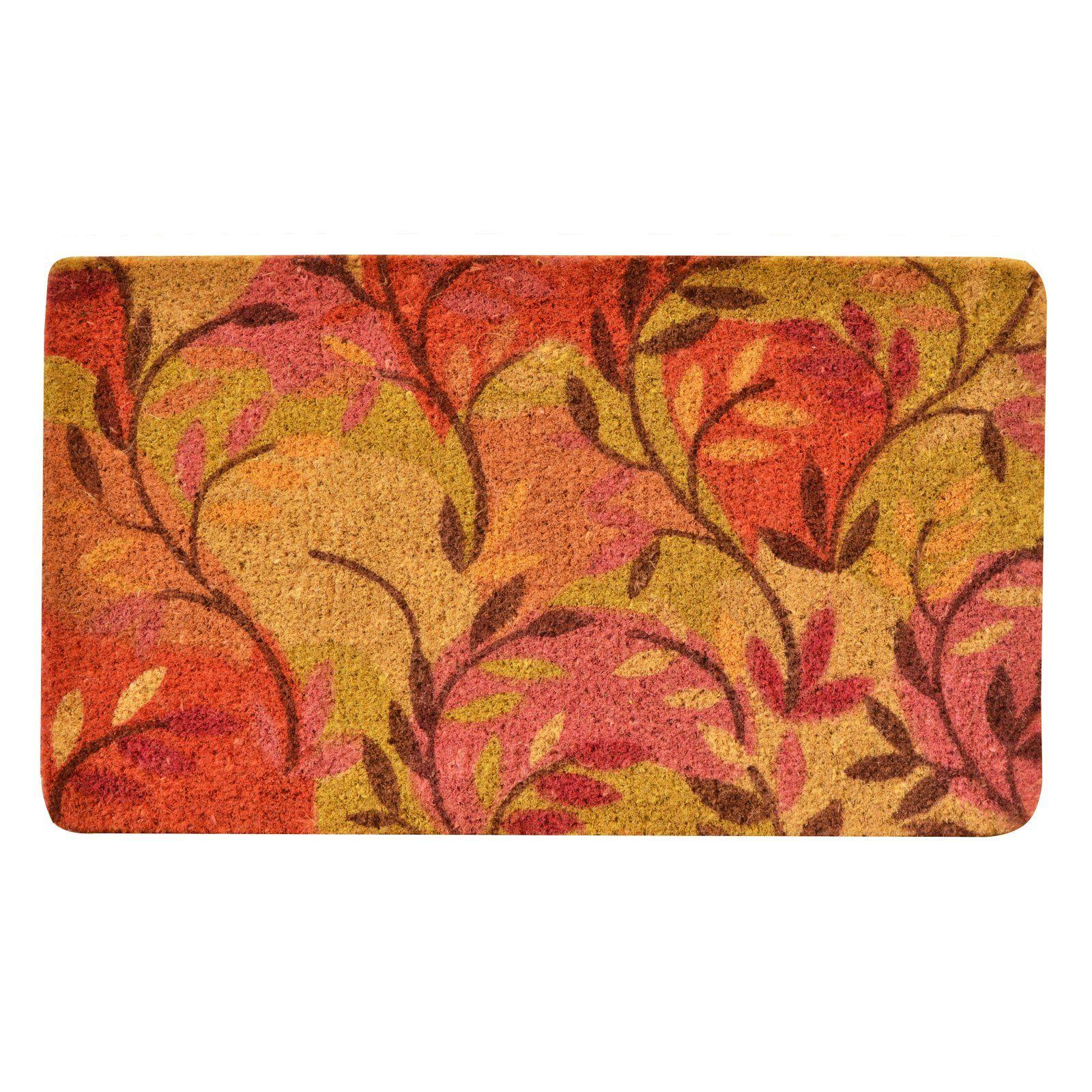 No Trax Multicolor Leaf Coir Door Mat Outdoor door mat