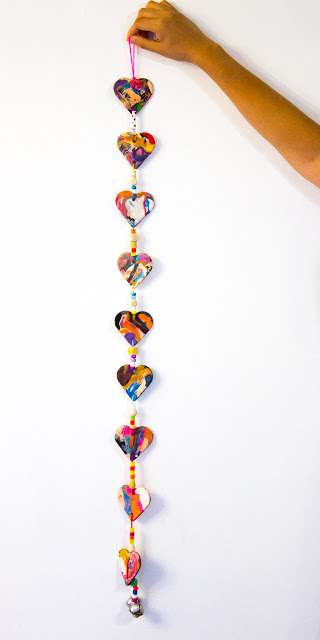 Easy DIY Clay Heart Mobile Craft