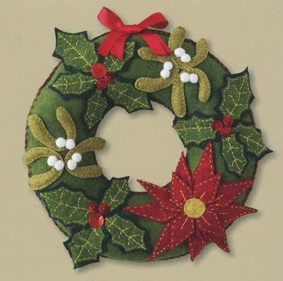 Idea for a felt wreath