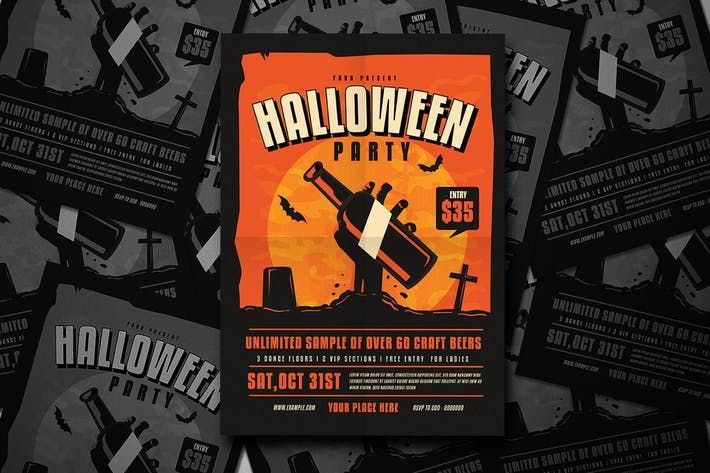 Halloween Party Flyer Beer Bar  Download Here  Http