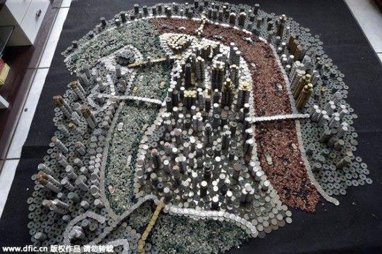 un artiste chinois crée une incroyable mini ville avec des pièces  2Tout2Rien