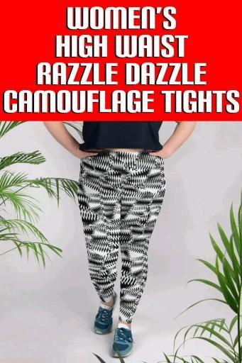 OurSoldier Complex Women's Razzle Dazzle Camouflage Plus Size Yoga Pants, Jiu Jitsu Tightsare designed for you to kick