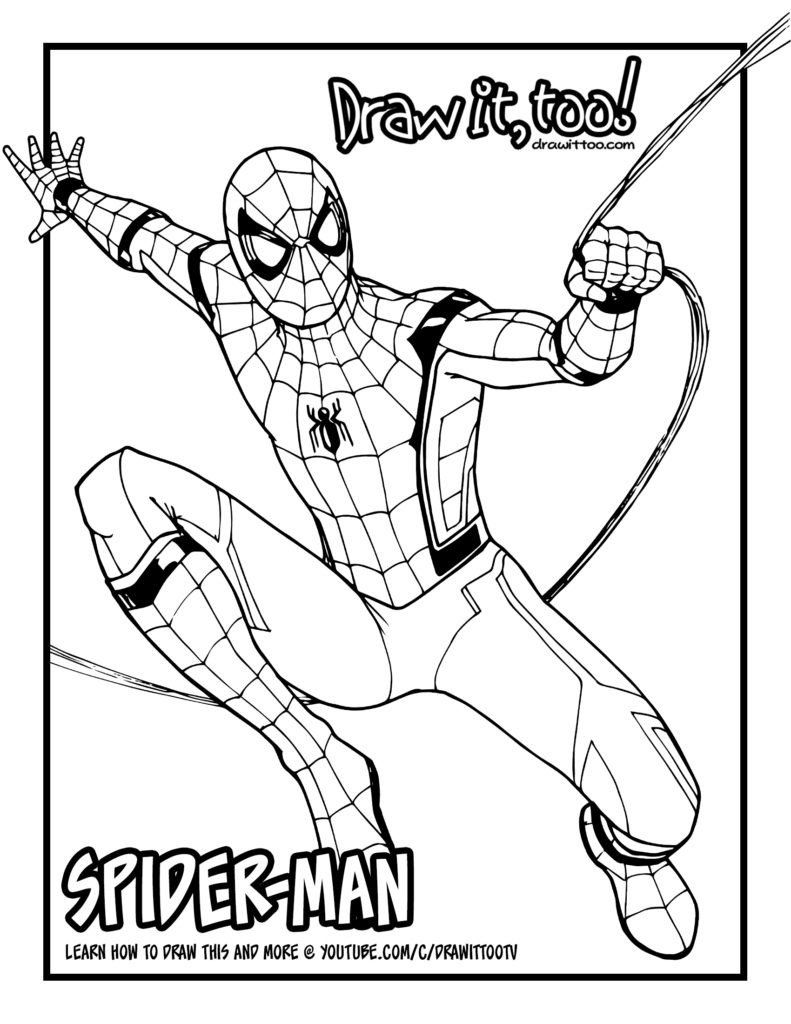 Spiderman Coloring Pages Pdf 25 [free] Spider Man Home Ing