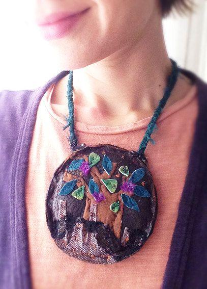 """Collar/ Necklace """"Baobab"""" pieza única hecha a mano de BaraDuo en Etsy"""