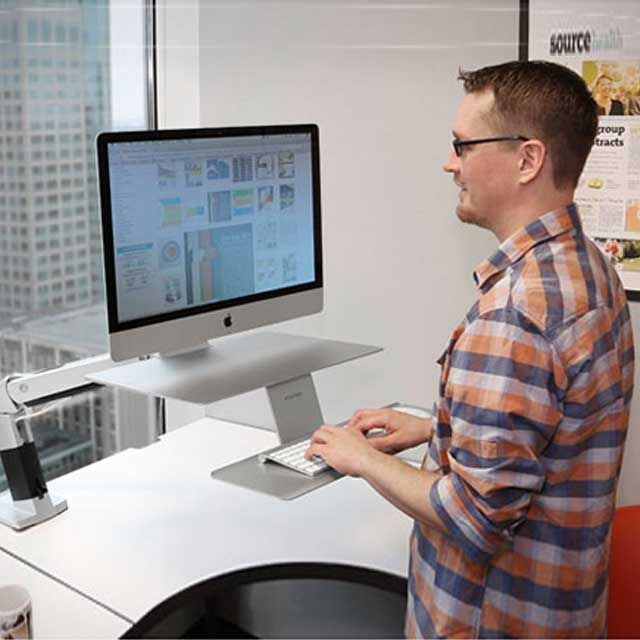 WorkFit-P Sit-Stand Workstation for Apple by Ergotron