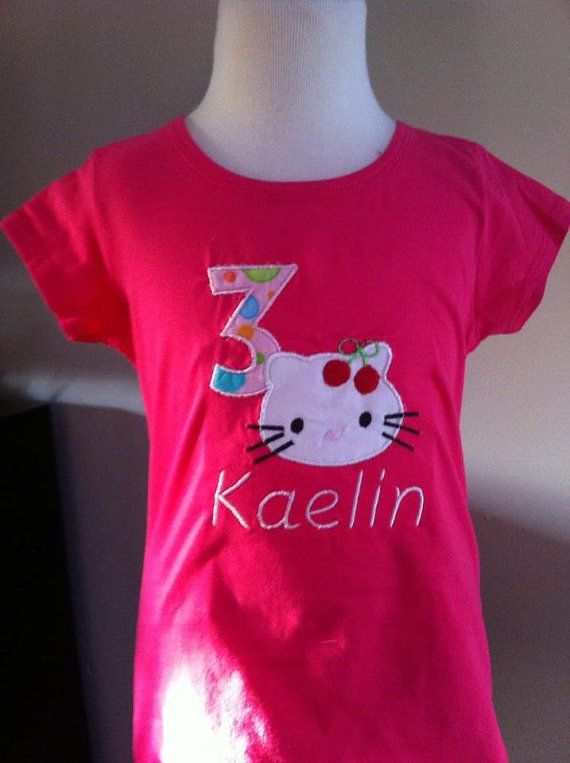 Hello Kitty Birthday Shirt.. you choose the colour by mmBabyshop, $26.00