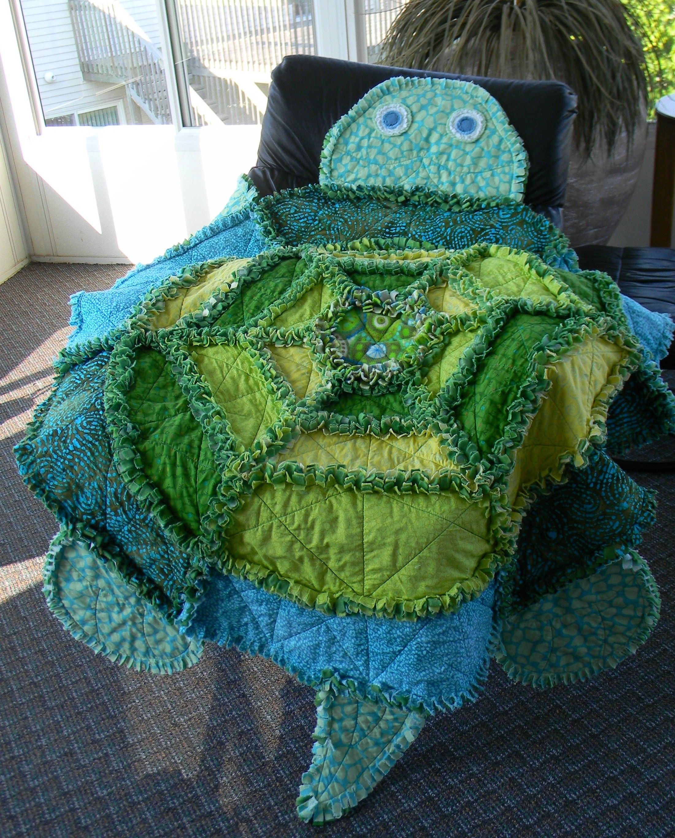 Rag Quilt Animal Patterns : Turtle rag quilt made for Caleb My Projects Pinterest Rag quilt and Turtle