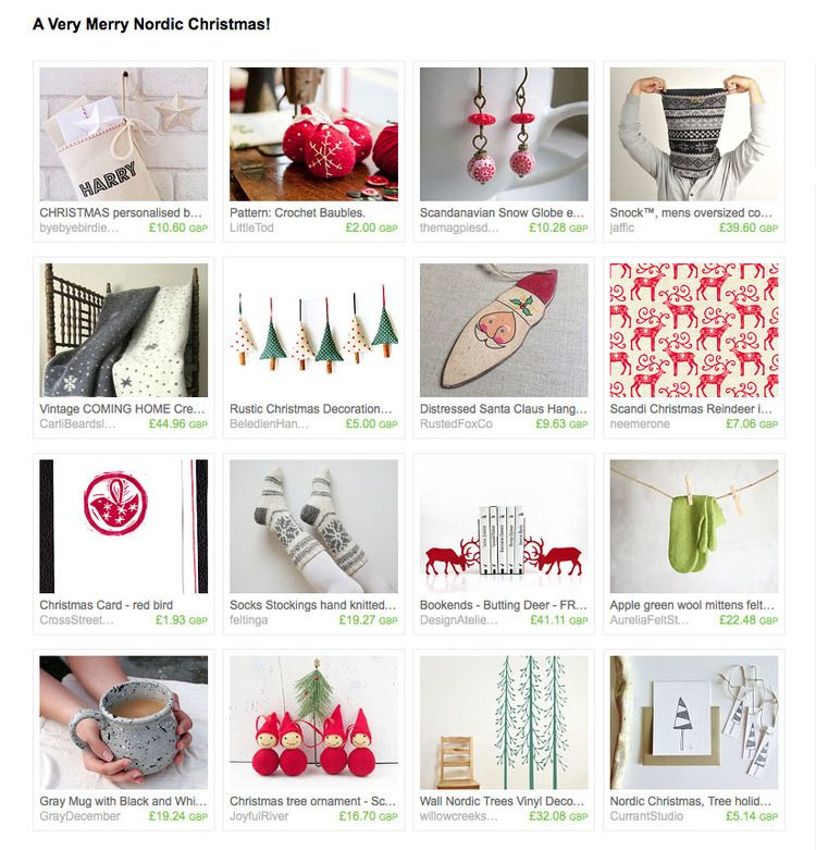 An Etsy treasury for Nordic Christmas inspiration! | Christmas ...