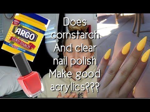 Diy Cornstarch Nails Cheap And Easy No Acrylic Needed Alexis Arreola Youtube Diy Acrylic Nails Fake Nails Acrylic Nails At Home