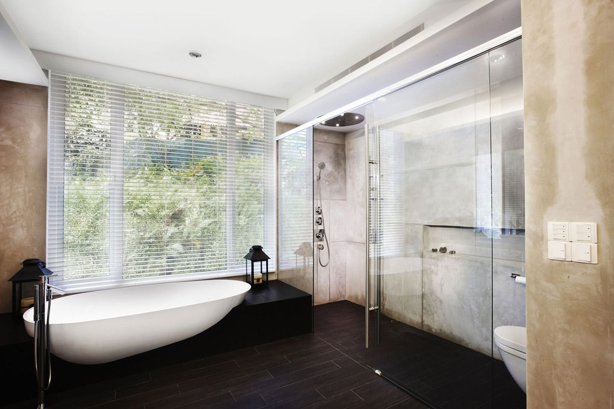 Glass Shower, Bath, Shop House Renovation in Singapore | Houses ...