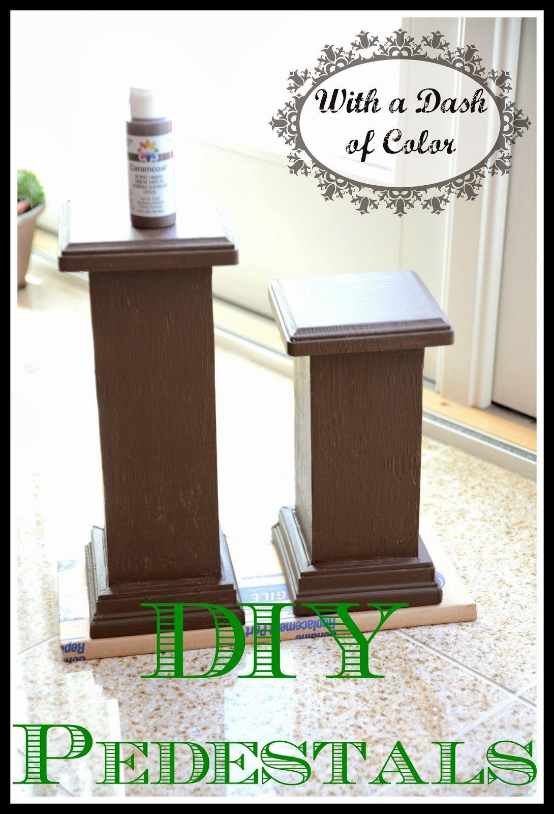 With A Dash Of Color Column Pedestals