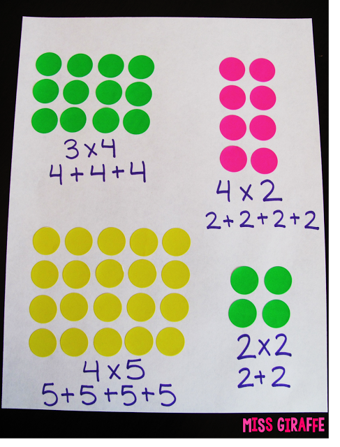 How to Teach Arrays | Teaching multiplication, Math activities, Math lessons
