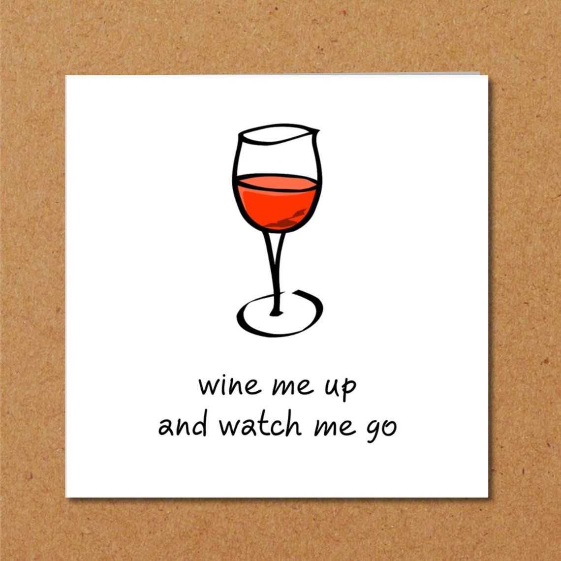 Funny Card For Wine Lovers