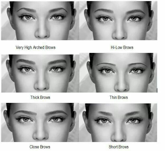 #Eyebrowns dufferent expression | Types of eyebrows ...
