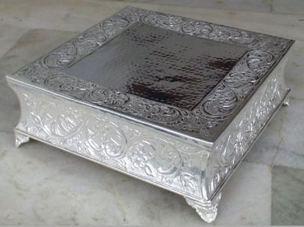 Silver Cake Stand Square Silver Cake Stand Wedding