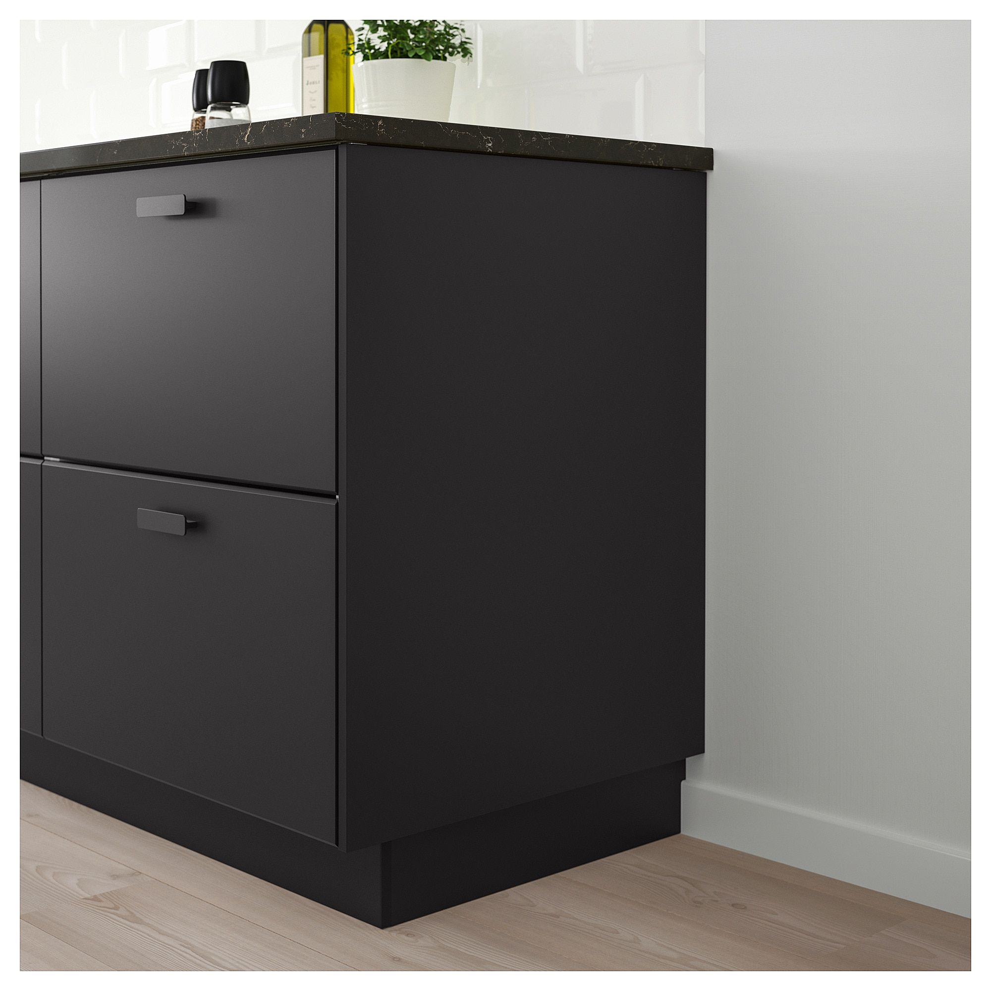 Kungsbacka Cover Panel Anthracite Ikea Kungsbacka Ikea Kitchen Cabinets Cover