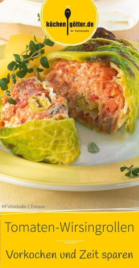 Rouladen light und fruchtig: gefült mit einer Quarkcreme mit Tomaten- und Möhrenwürfelchen.