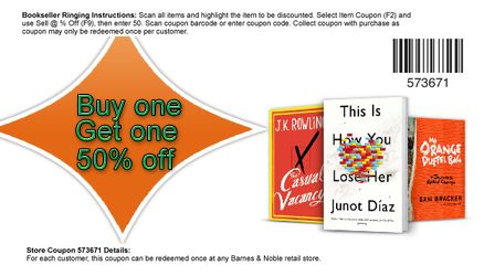 barnes and noble printable coupons are very much renowned among the avid book lovers