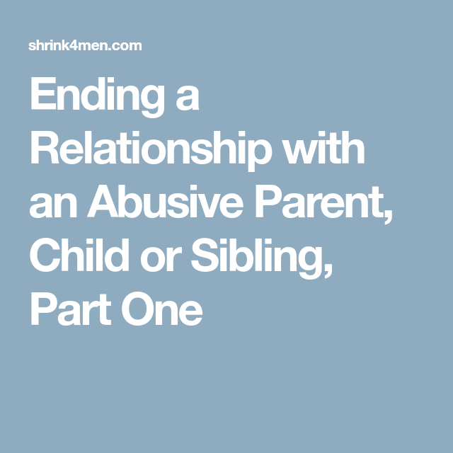 Ending a codependent relationship