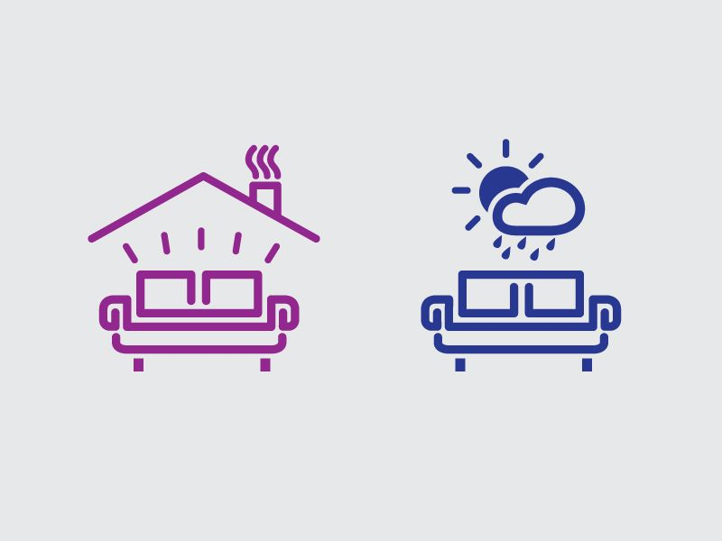 Indoor Outdoor Furniture Icons By Alexander Kusminov