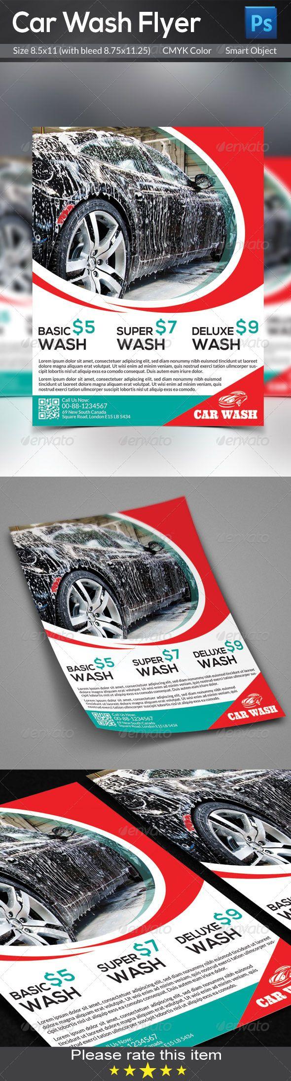 Car Wash Flyer | Lavar, Lavado de auto y Lavado de coches