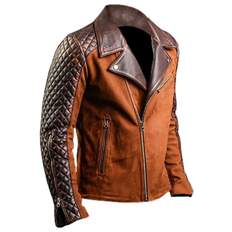Men's Cafe Racer Stylish Biker Brown New Distressed Real