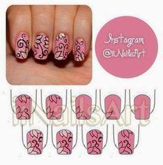 Pink Flowers Beauty Nails Hair Stuff Cuts Nail Inspo