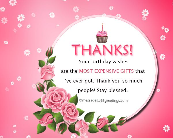 Thank you message for birthday wishes on facebook pinterest thank you message for birthday wishes on facebook 365greetings m4hsunfo