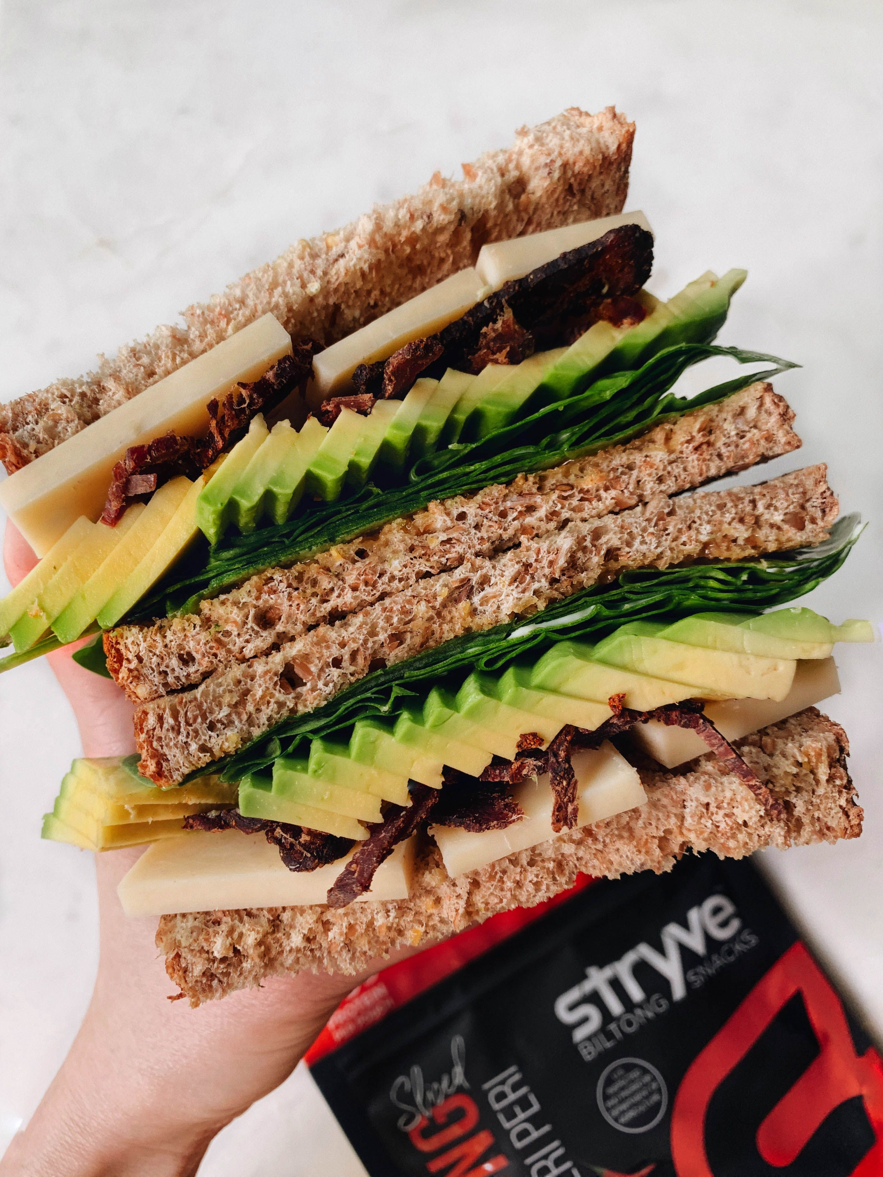 Sandwich avocado biltong recipe Biltong, Honey mustard