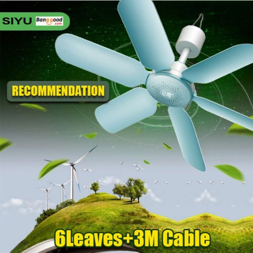 Quiet-Ceiling-Fan-7W-6-Leaves-Electric-Hanging-Anti-Mosquitoes-Breeze-Cooler