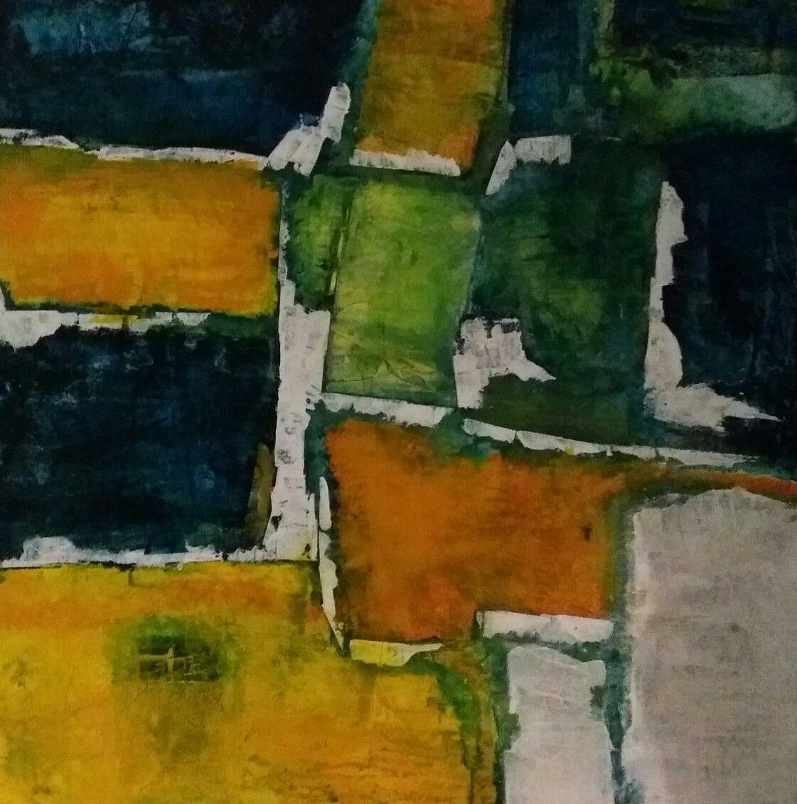 Acrilyque sur toile 80 x 80 - Pol