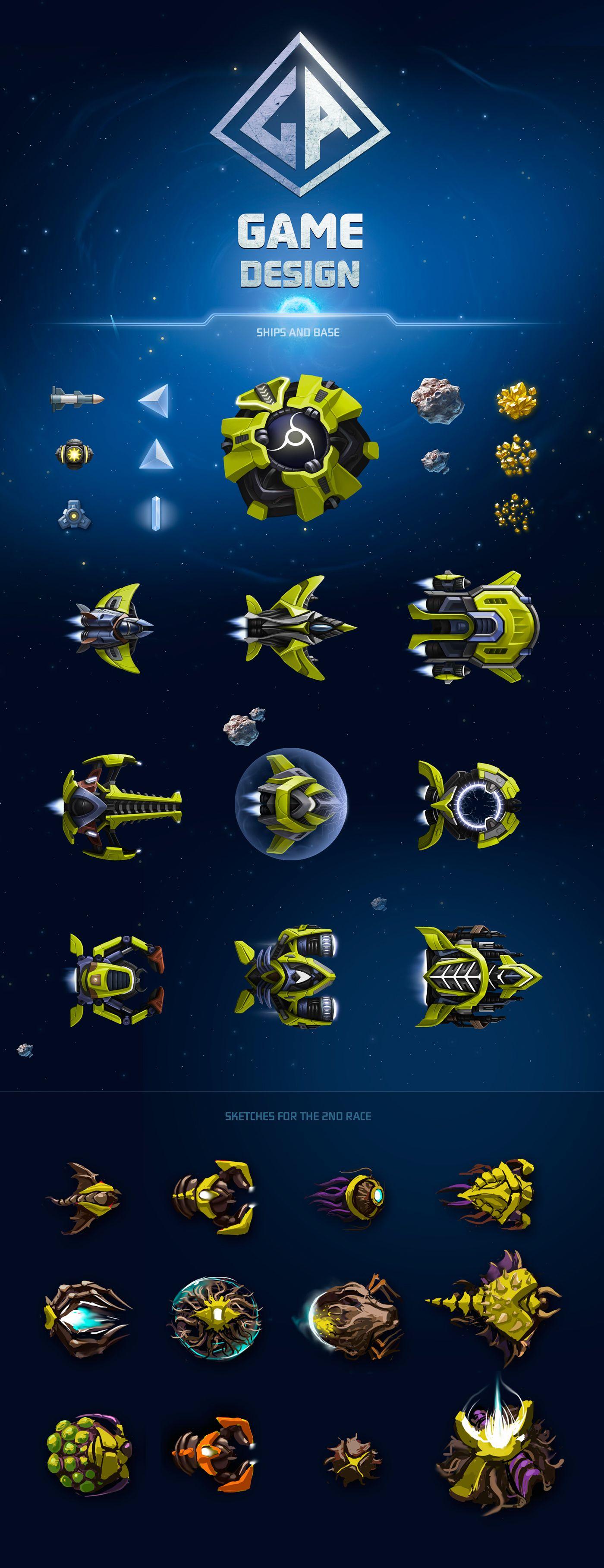 Ознакомьтесь с моим проектом в Behance Design Game Unit UI - Spaceship design game