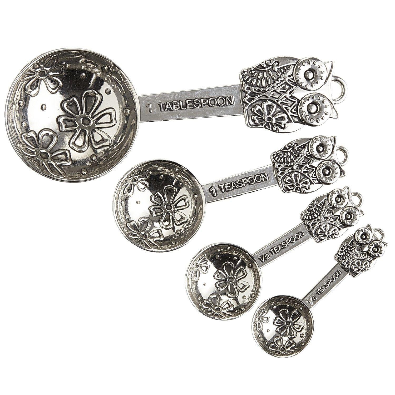 Metal Owl Measuring Spoons Set