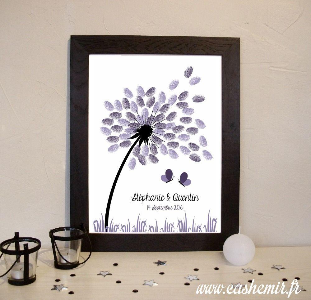 arbre empreintes mariage imprimer cadeau de mariage livre d 39 or souvenir fichier. Black Bedroom Furniture Sets. Home Design Ideas