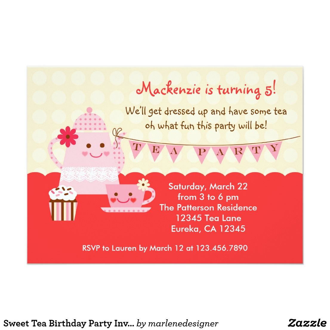 Colorful Invitations Tea Party Model Resume Ideas Megansmission Info