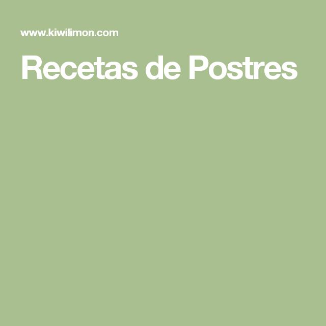 Recetas de Postres