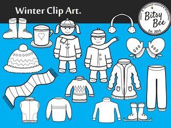 Freebie Winter Clothes Clip Art Clip Art Clothes Clips Winter Outfits