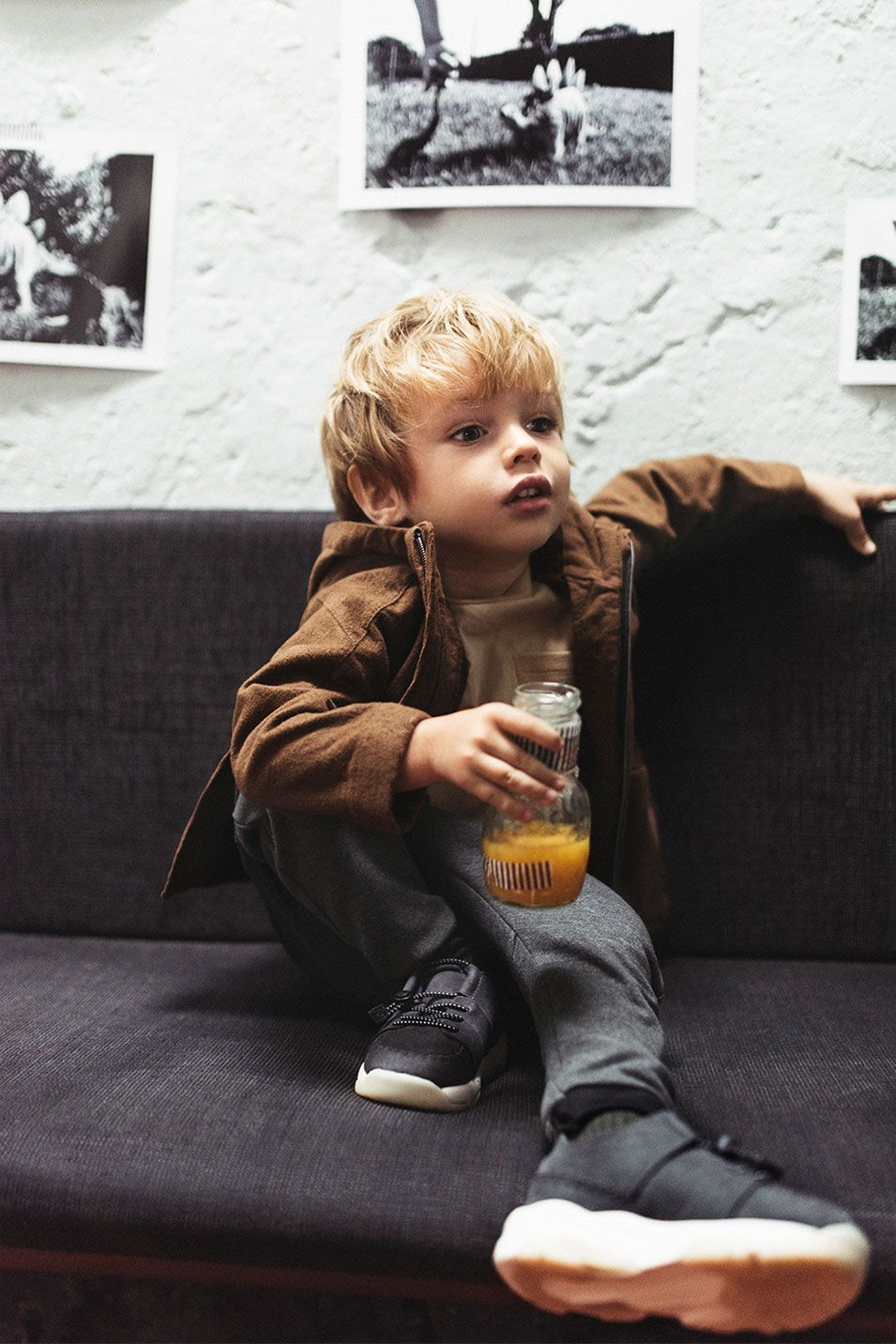 Image 2 Of Needlecord Jacket T Shirt With Pocket Zip Trousers Leather Sneakers From Zara Baby Outfit Junge Niedliche Kinder Cool Baby