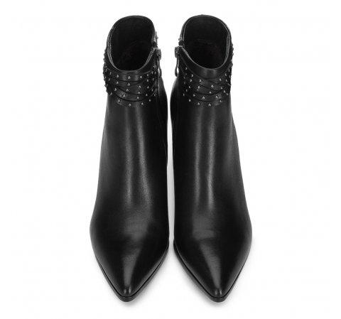 Damskie Botki W Szpic Na Szpilce 91 D 960 7162447 Stiletto Heels Heeled Ankle Boots Mens Leather Bag