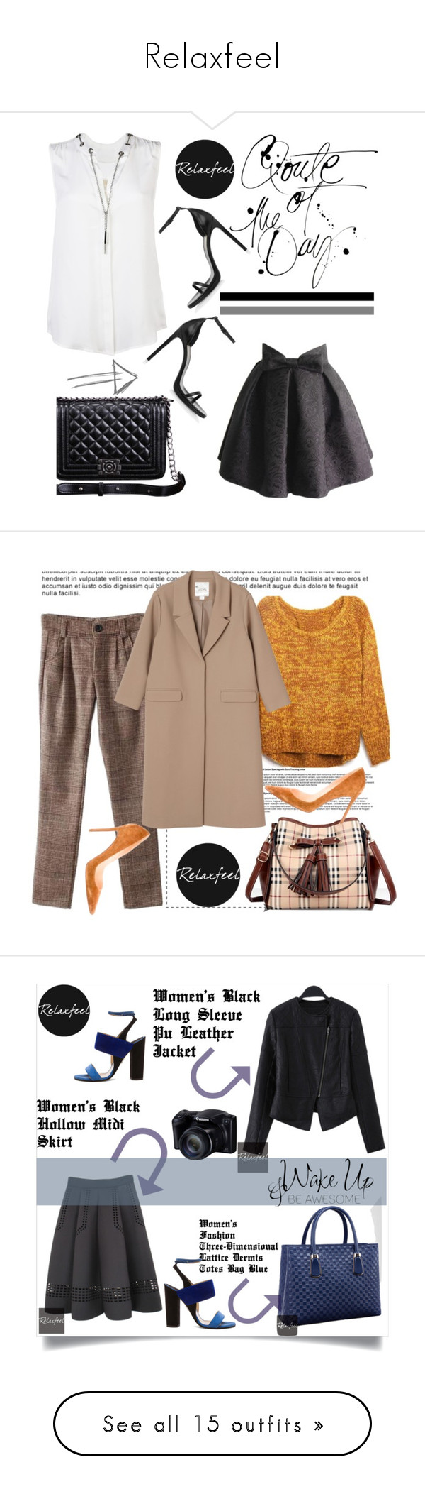 """Relaxfeel"" by amra-mak ❤ liked on Polyvore featuring Relaxfeel, MICHAEL Michael Kors, Yves Saint Laurent, vintage, Monki, Christian Louboutin, Paul Andrew, Kate Spade, 8 and Manolo Blahnik"