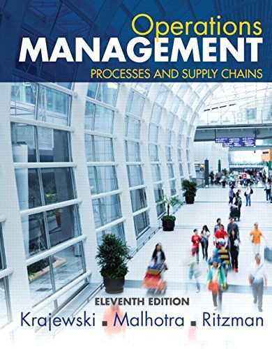 Operations Management Processes And Supply Chains 11th Operations Management Supply Chain Supply Chain Management