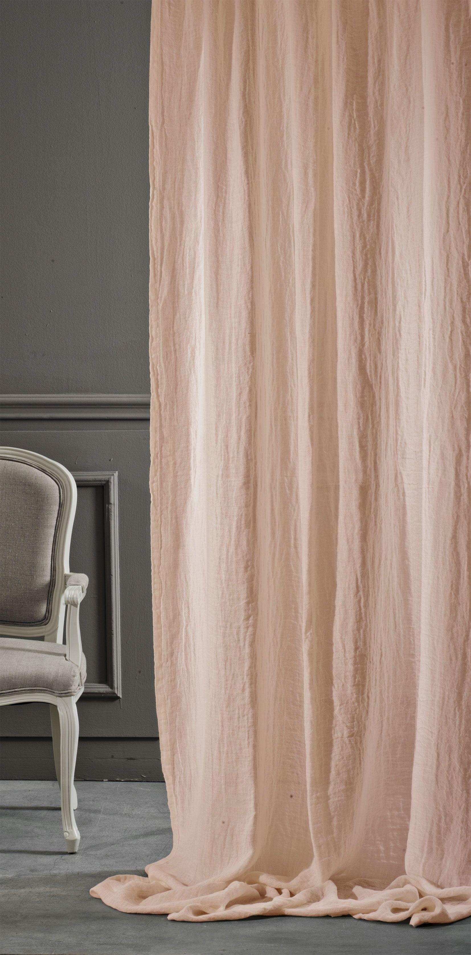 Tenda Basic lino albicocca