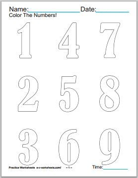 80 Number Coloring Pages For Kids Coloring Pages Coloring Pages For Kids Coloring Pages To Print