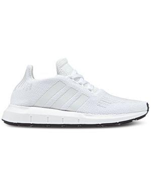 Adidas Girls Swift Run Running Sneakers From Finish Line White 5 5 Sneakers Running Sneakers Girls Shoes Kids