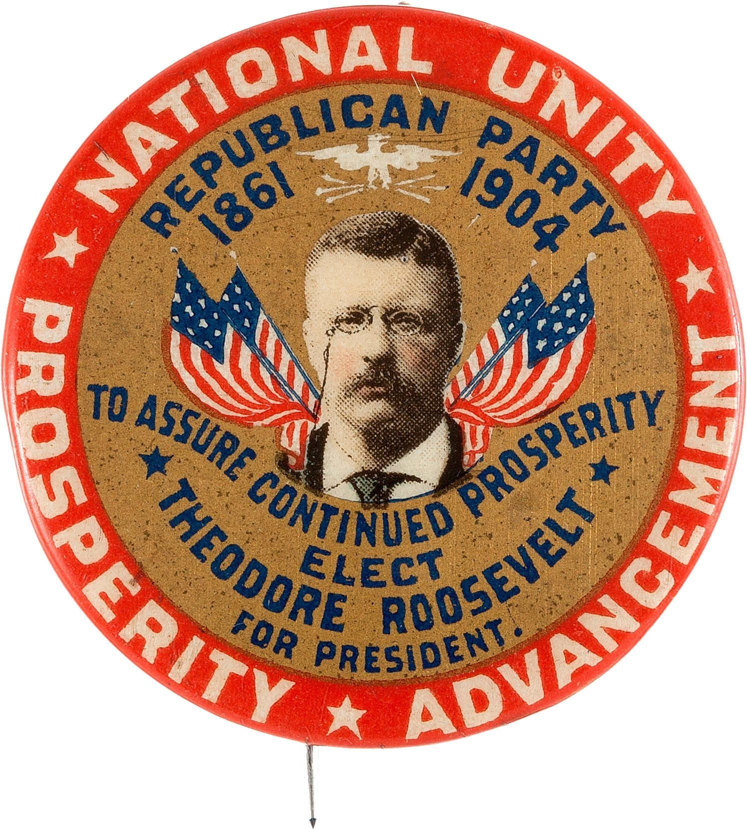 Theodore Roosevelt Campaign Button