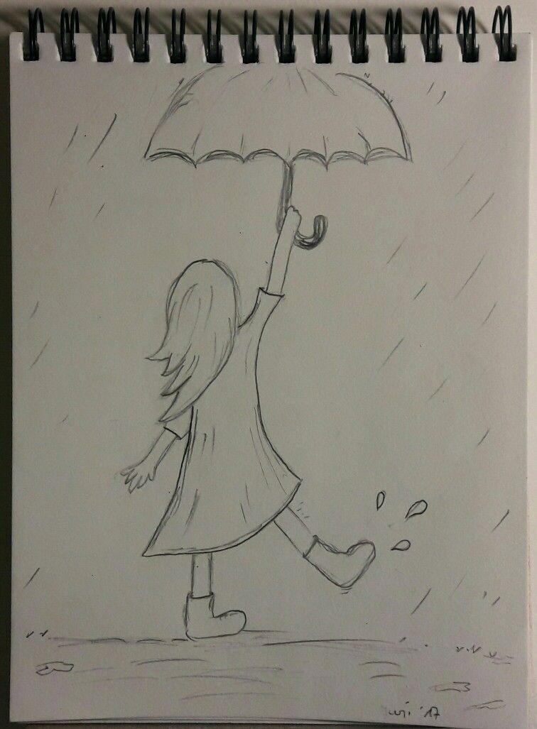 Rain Drawing : drawing, Raining, Sketching, Sketches,, Drawings,