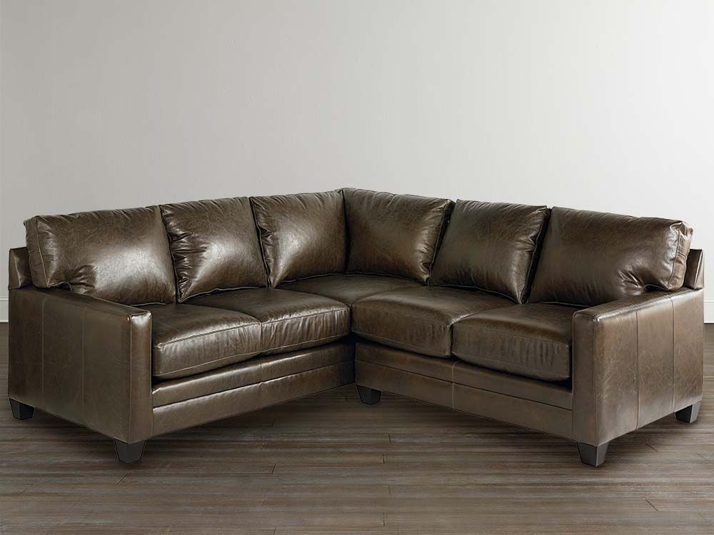 Small L Shaped Sectional By Bassett Furniture Modern Leather Couch Modern Couch Sectional Sofa Beige