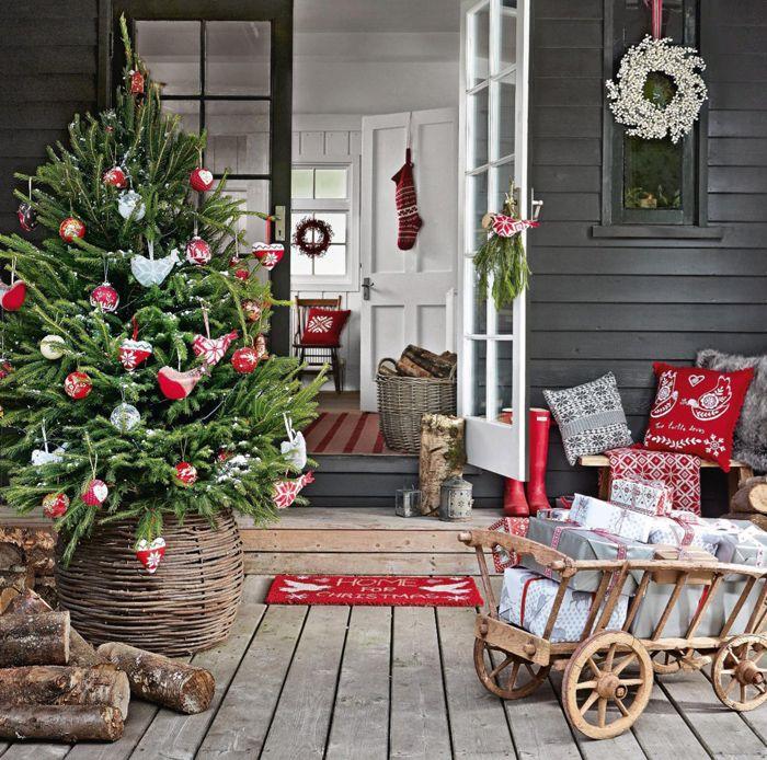 Праздники в деревне december 2013 christmas porch and december