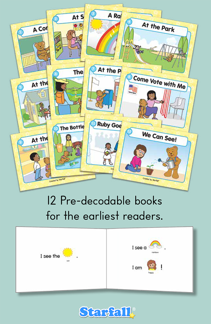 Backpack Bear\'s Books! Rebus stories combining high-frequency words ...